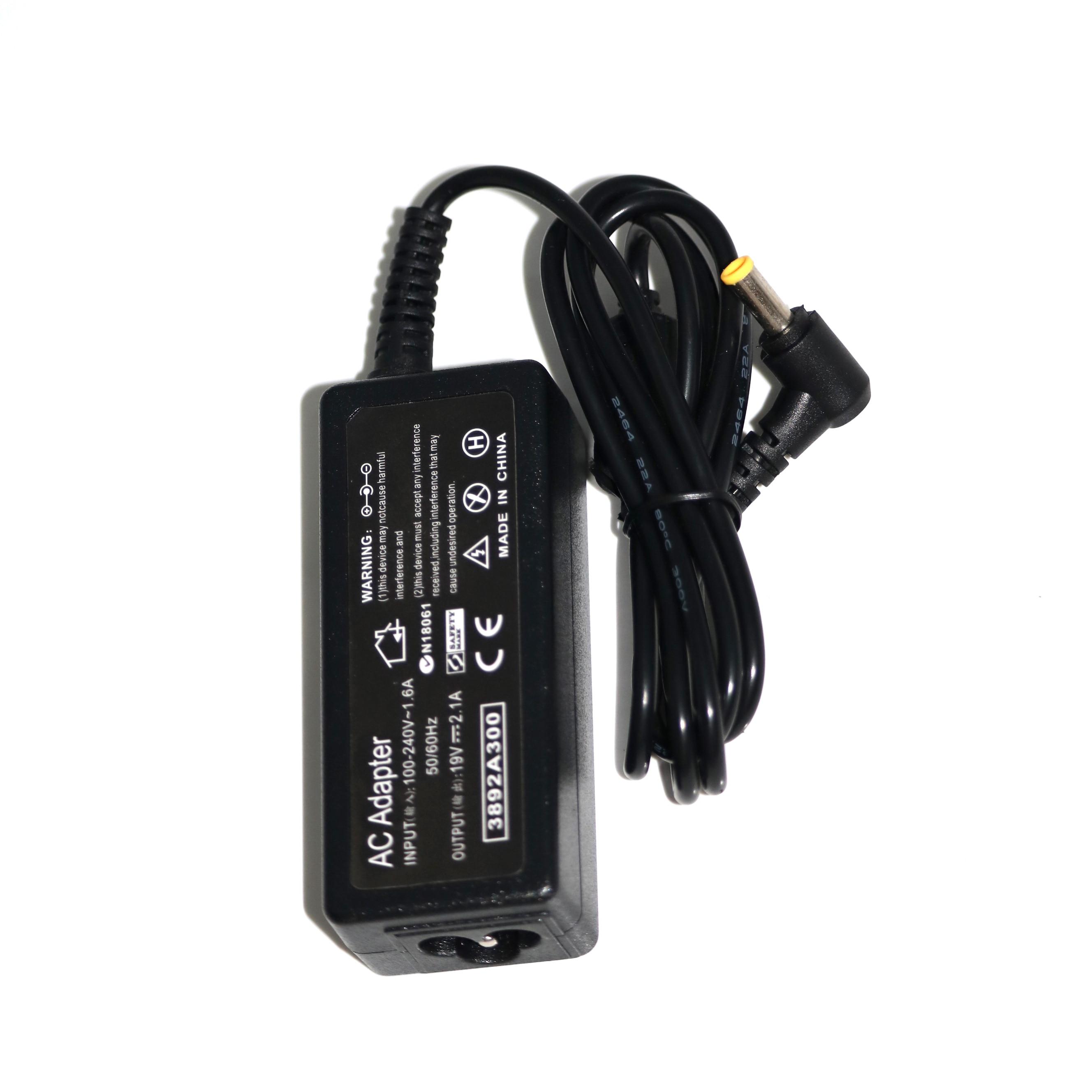 Ac Adapter Laptop Charger for Samsung Netbook 19V 2.1A 40W N130 N140 N150 N210 N220 N510 NP-N110 NP-