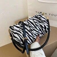 fashion zebra leopard pattern shoulder bags for women 2021 luxury handbags women bags designer small hand bags lady purses
