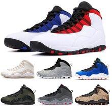 Haute qualité rétro hommes basket-ball chaussures 10 restaurant Tinker ciment Cool gris camouflage Sport mode baskets blanc noir taille 7-12