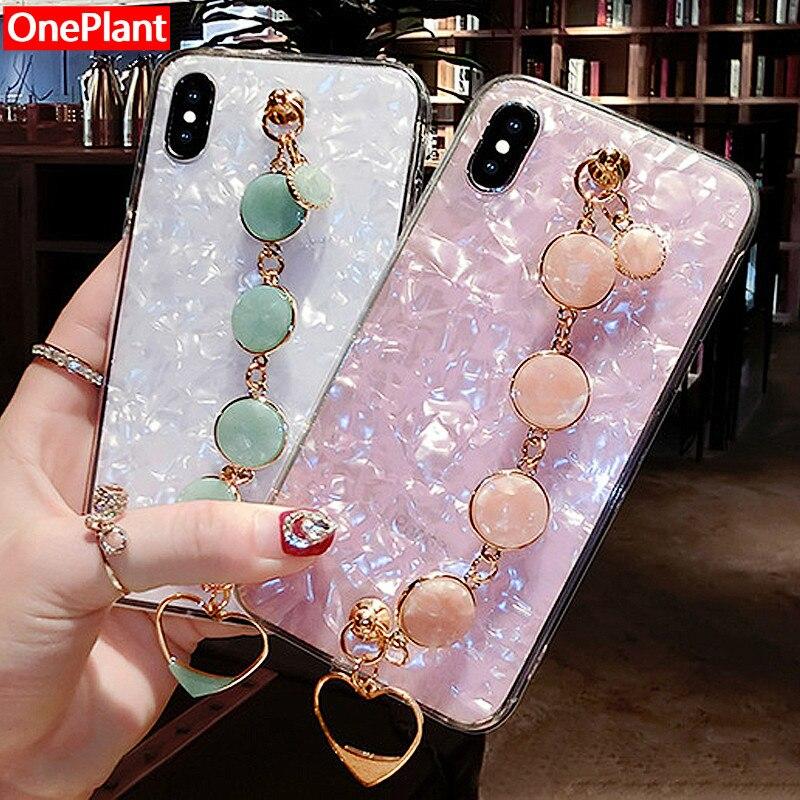 Glitter caso de telefone para o iphone xr xs max x 8 7 6s mais diamante pulseira para samsung s8 s9 s10 plus nota 9 8 silicone macio capa