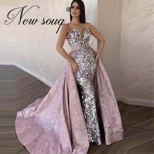 Женское вечернее платье со съемным шлейфом, длинное платье для выпускного вечера в стиле саудовской аравии, индивидуальный пошив, 2021