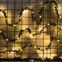 battery powered ivy fairy string lights 2050leds tiny leaf garland holiday copper for christmas party new year wedding garden