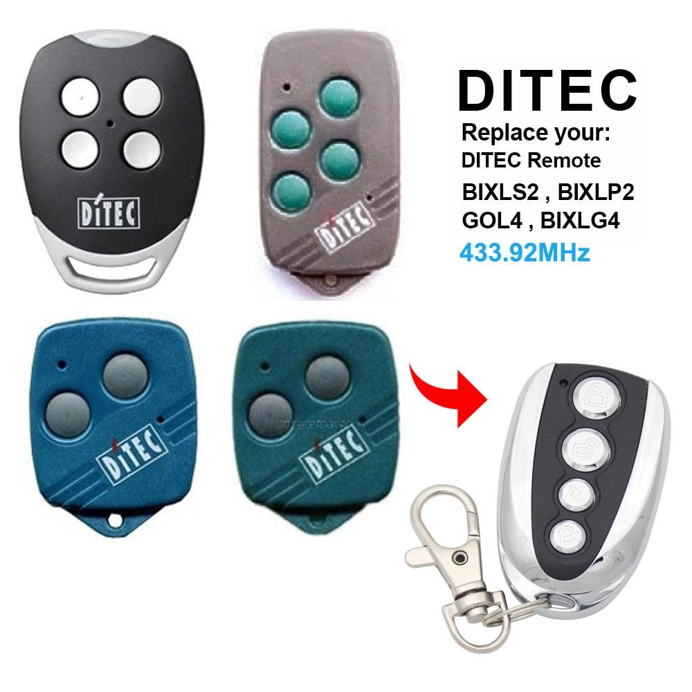 Ditec gol4 bixlg4 bixlp2 bixls2 controle remoto 433mhz porta da garagem ditec controles remotos transmissor