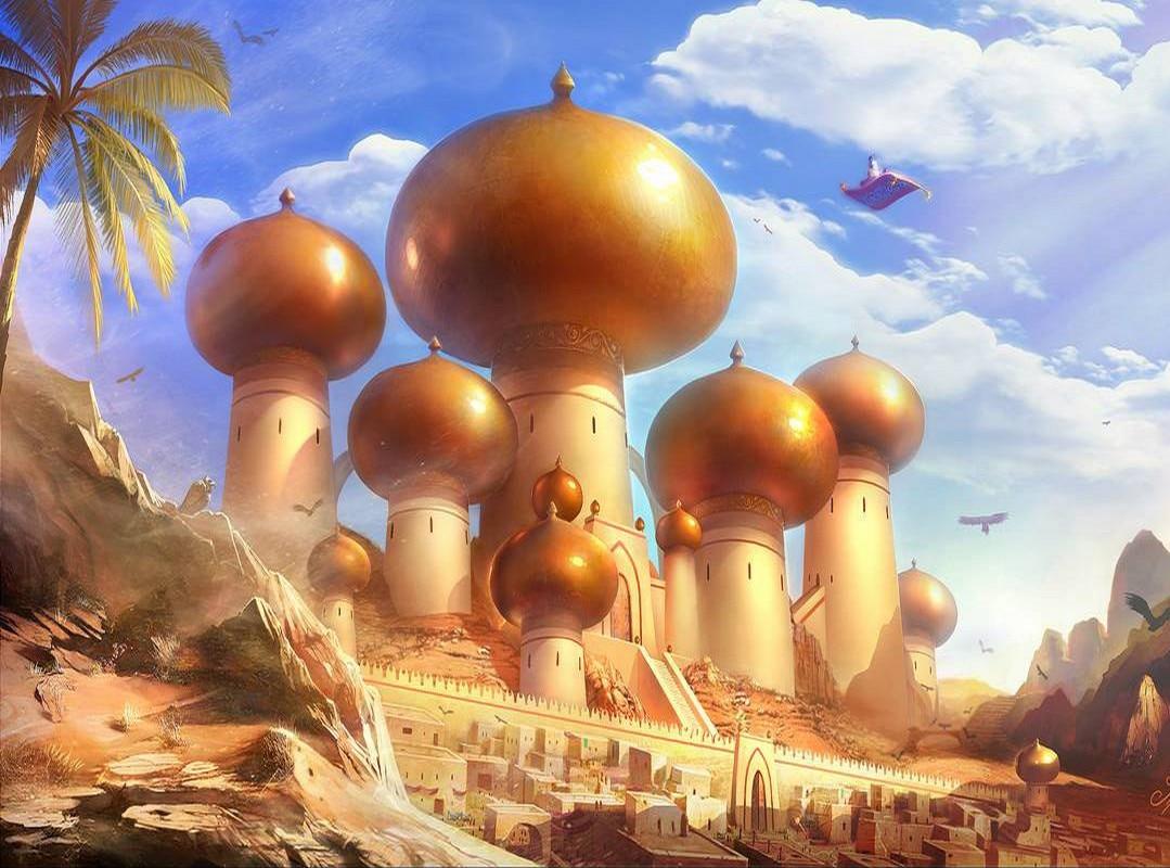 JMINE Div 5D Aladdin Arab Castle pintura completa de diamante punto de cruz kits de Arte de alta calidad dibujos animados 3D pintura por diamantes