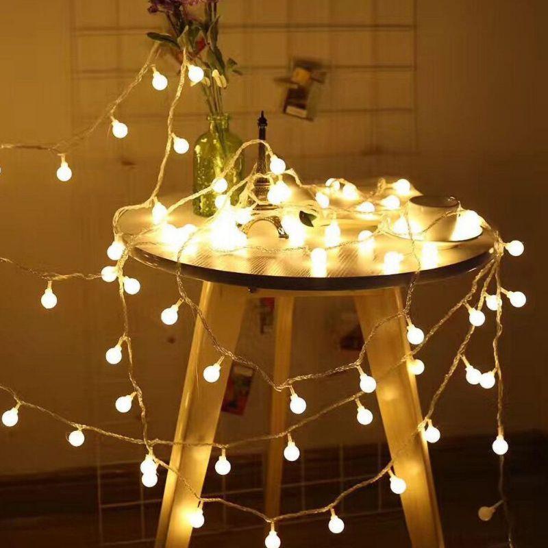 Cadena de luz de hadas USB LED bola redonda Cadena de luz USB intermitente lámparas decorativas de hadas para Navidad, exterior, interior
