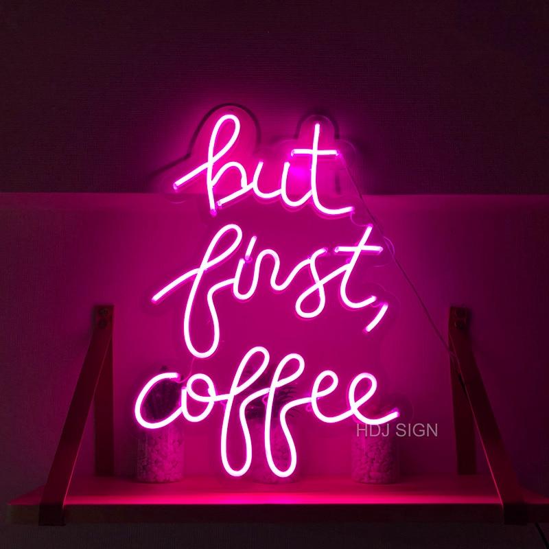 ولكن فقط القهوة مصابيح إضاءة ليد مخصصة النيون تسجيل مناسبة ل مقهى مخزن مطعم الجدار الديكور تخصيص ضوء النيون