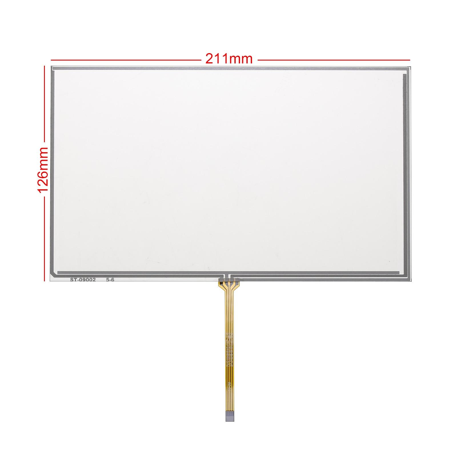 Para Sensor de resistencia de Panel de pantalla táctil resistivo, digitalizador de cable medio de 9 pulgadas, 211x126MM AT090TN10 AT090TN12