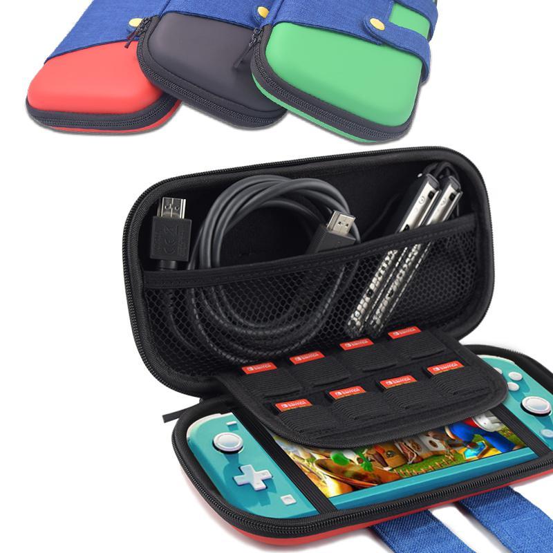 Eastvita capa dura de eva para console, proteção portátil para armazenamento de switch lite, controle de cores, à prova de choque, uso ao ar livre