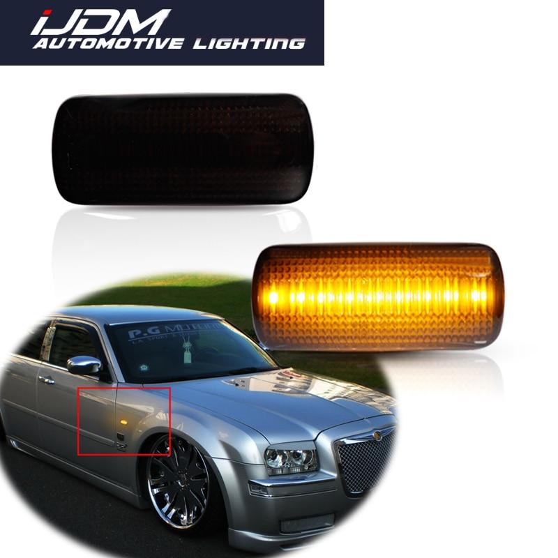 2pc Car Amber LED Side Marker Turn Signal Lights For Jeep compass Grand Cherokee Chrysler 200 300C Dodge Avenger Lancia Flavia