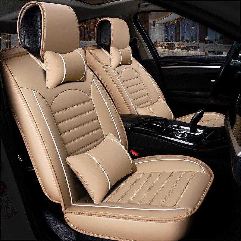 HeXinYan-housses de sièges de voiture   En cuir, universel, pour Subaru, tous les modèles forester XV Outback Legacy impreza, accessoires de style automobile