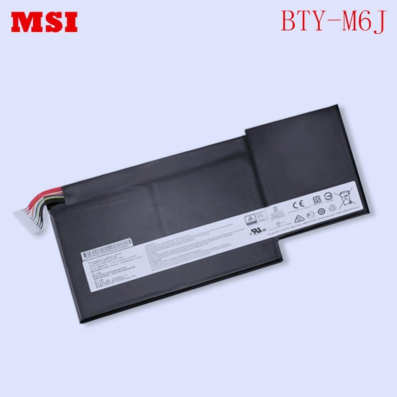 New Original Laptop replacement Li-ion Battery BTY-M6J for MSI GS63VR GS73VR 6RF GS43VR series 11.4V 64.98Wh 5700mAh
