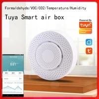 Tuya Smart Home Wifi Air Box 4 8-12V Formaldehyde VOC Carbon Dioxide Temperature Humidity Sensor Automation Alarm Detector