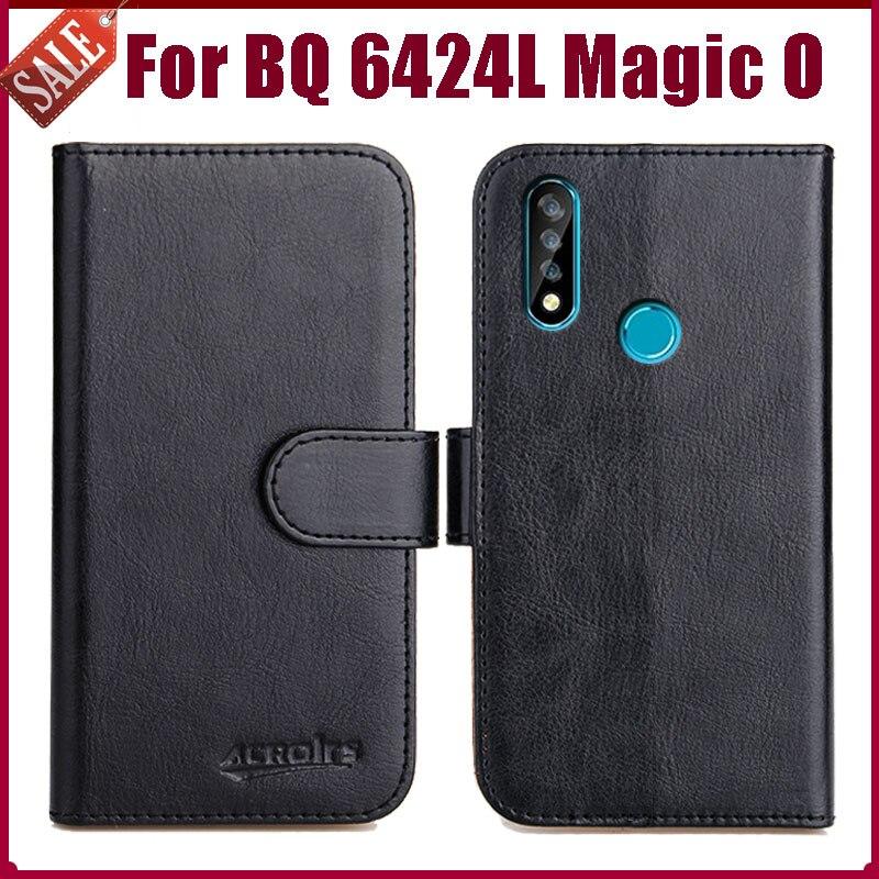 "Hot! BQ 6424L Magic O Case 6.35"" High Quality 6 Colors Flip Soft Leather Phone Wallet Cover For BQ 6424L Magic O Case"