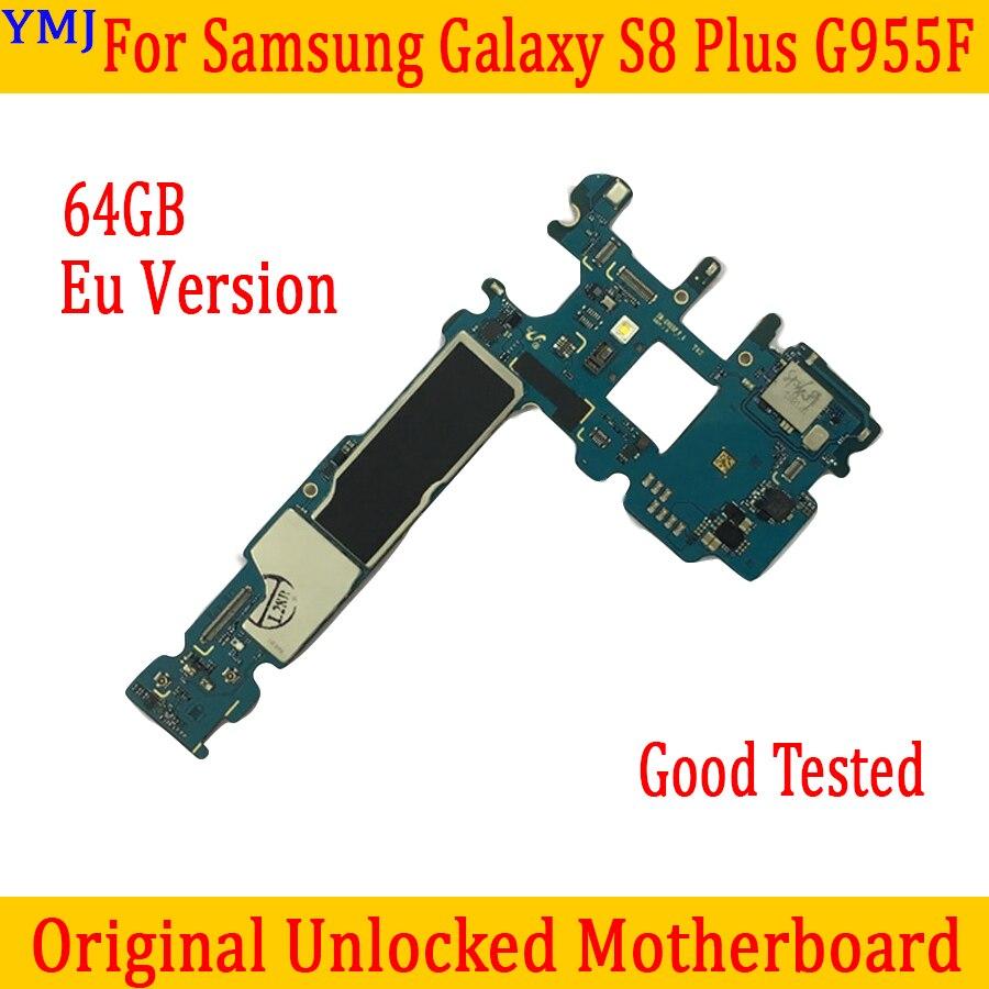 Placa base de 64GB para Samsung Galaxy S8 Plus G955F, Original desbloqueado para placa base S8 G955F con Chips, versión europea, envío gratis