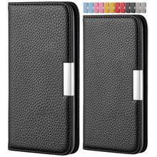 Litchi motif boîte couleur unie étui pour samsung à rabat Galaxy A40 A50 A70 A750 A7 2018 A80 A90 mignon cuir téléphone sacs portefeuille E32H