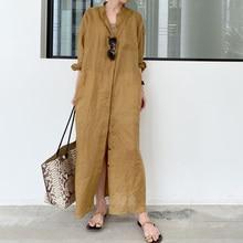 Dress Slim Shirt Style 2021 New Solid Color Lapel Ginger Hem Split Long Sleeve Single-breasted Sprin