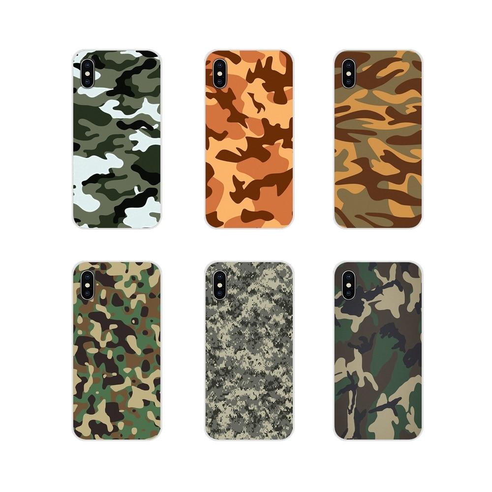 Fundas de camuflaje para teléfono Samsung Galaxy S2 S3 S4 S5 Mini S7 S6 Edge S8 S9 S10E Lite Plus, accesorios