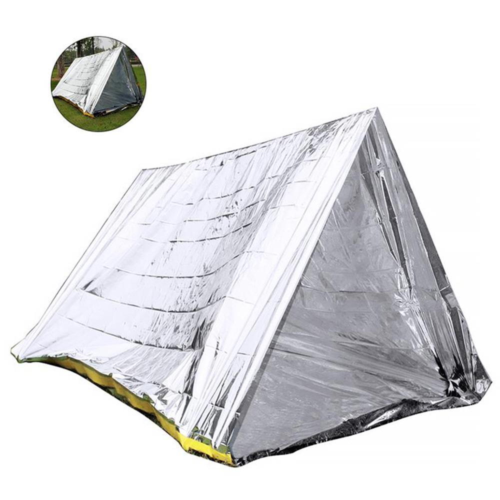 Outdoor Emergency Tent Survival Sleeping Bag Emergency Waterproof Thermal Insulation Aluminum Film Rescue Blanket