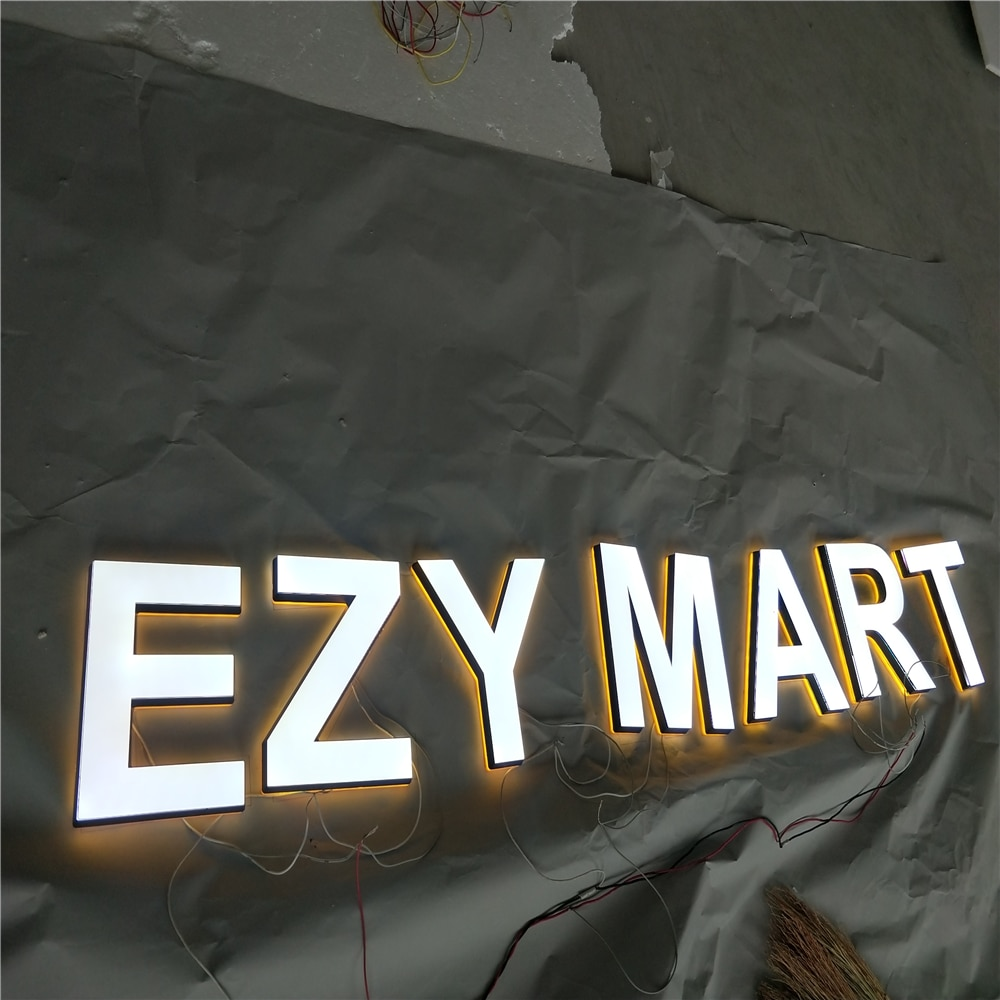 Factory Outlet  high quality  acrylic Super high brightness shop sign, custom led letter signages for logos name