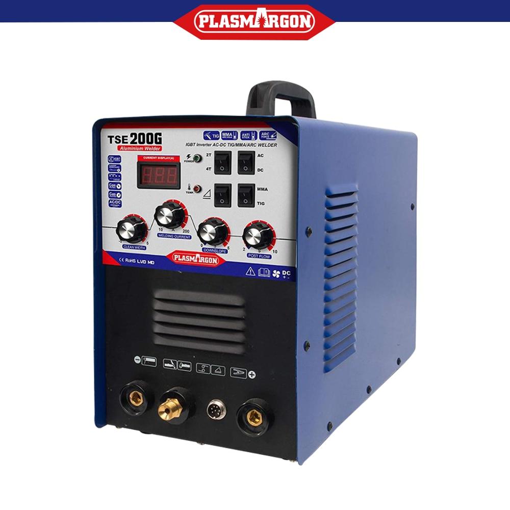 TSE200G AC / DC inverter TIG / MMA welding machine  can weld aluminum, stainless steel, carbon, copper