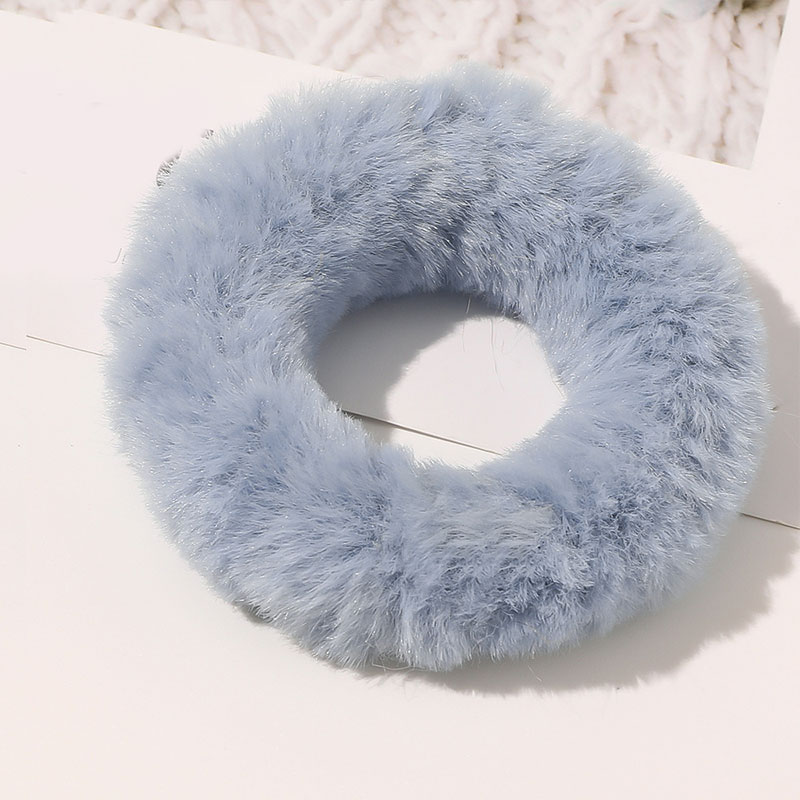 Doce cor do falso coelho peludo scrunchies macio feito à mão peles elásticas faixas de cabelo anel laços de cabelo meninas ponytai titular corda de cabelo quente