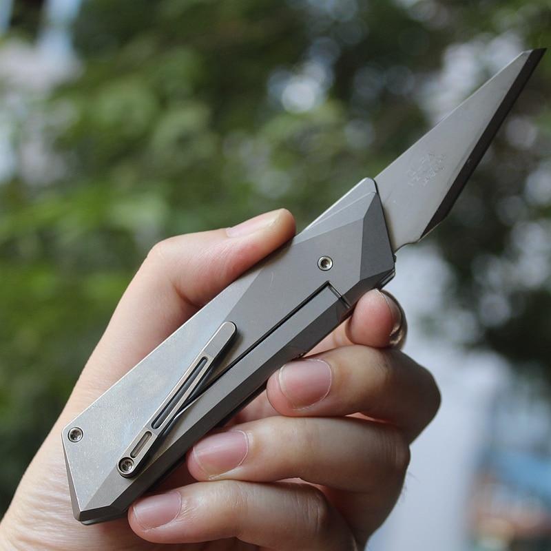 ماك ووكر التيتانيوم EDC سكّين متعدّد الاستخدامات ورقة قطع سكين تفريغ سكّين متعدّد الاستخدامات s EDC أداة مع شفرة CKB2