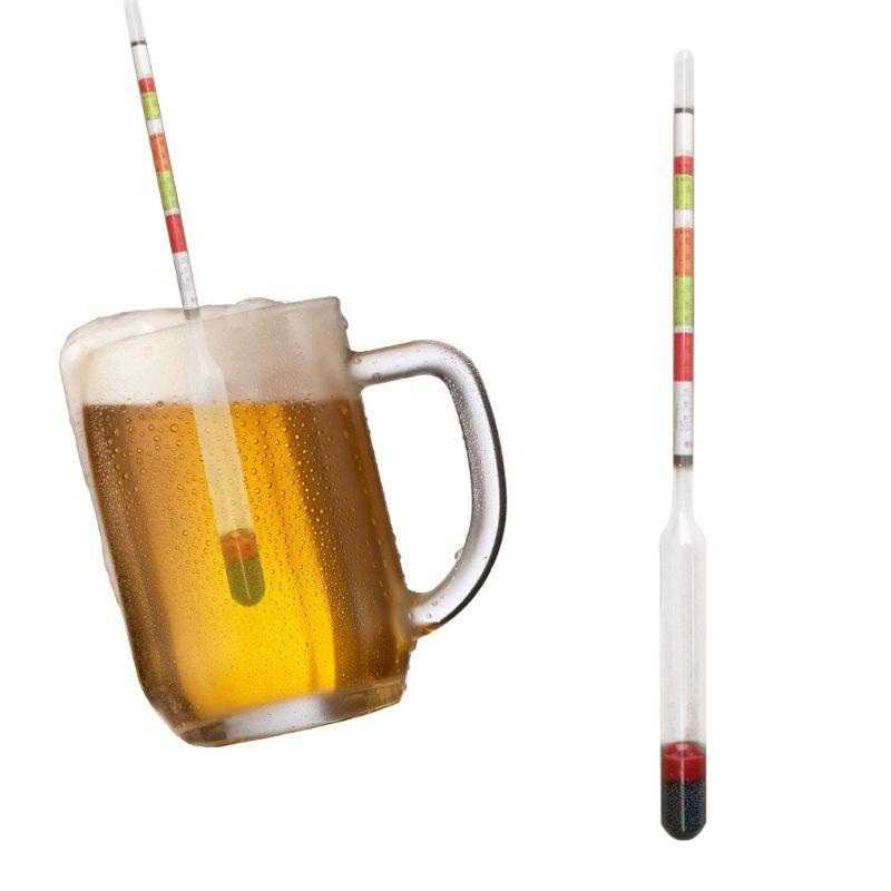 2 uds Triple escala hidrómetro de vino elaborada medidor de azúcar para casa haciendo cerveza L69A