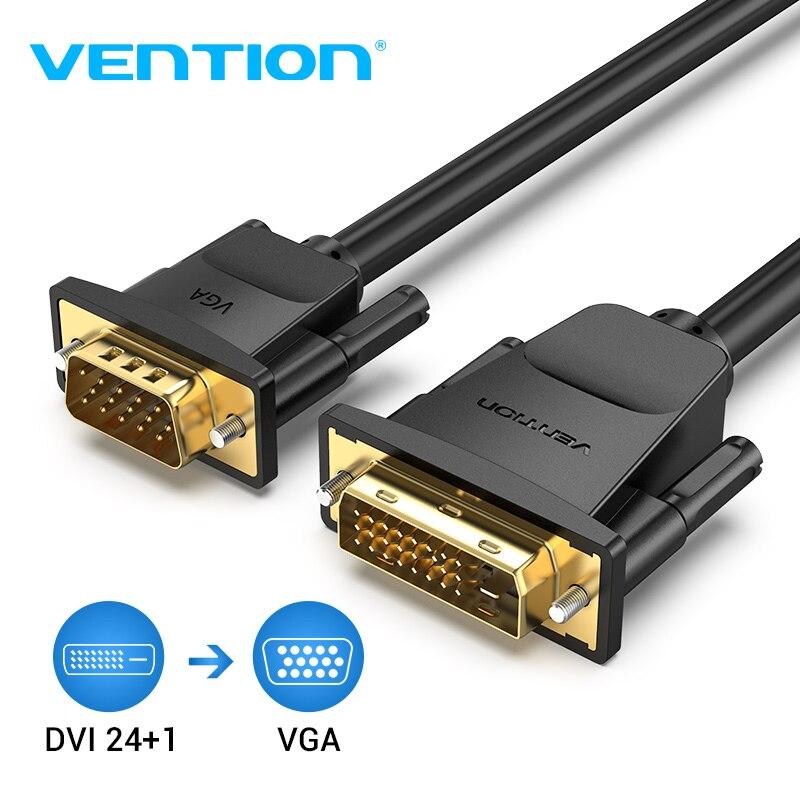 Tions DVI zu VGA Kabel DVI 24 + 1 VGA Adapter DVI Stecker auf VGA Stecker HD 1080P Video konverter für PC Laptop TV Projektor Monitor
