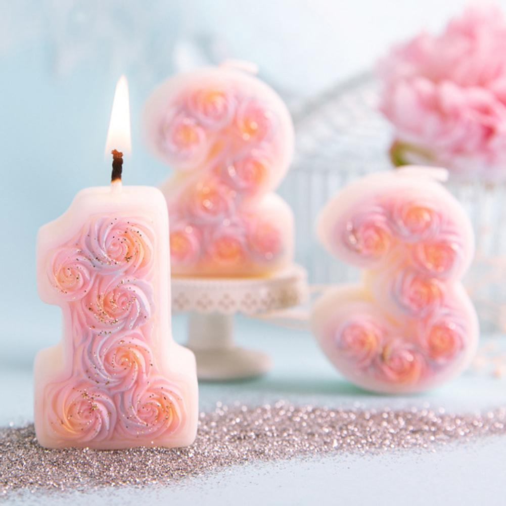 0 - 9 Numbers Shape DIY Silicone Mold 3D Hand Made Sucker Sticks Chocolate Candle Molds For Cake Party Decoration Mould