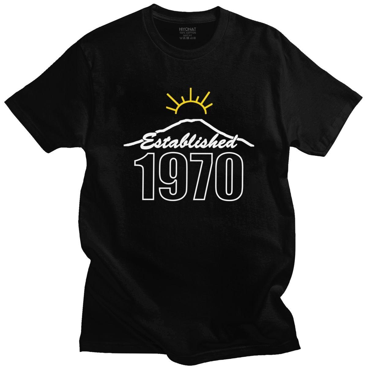 Urban Fashion Made in 1970 Tshirt Men O-neck Short Sleeve 50 Years Old T-shirt Birthday Gift Cotton Basic Tee Shirt Anniversary