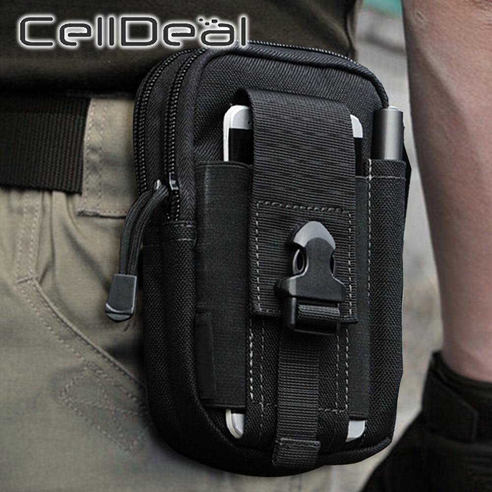 Waist Pack Men's Casual Bag Travel Purse Waterproof Belt Zipper Tactical Outdoor Sport Fanny Multifunction Pack Phone Pocket