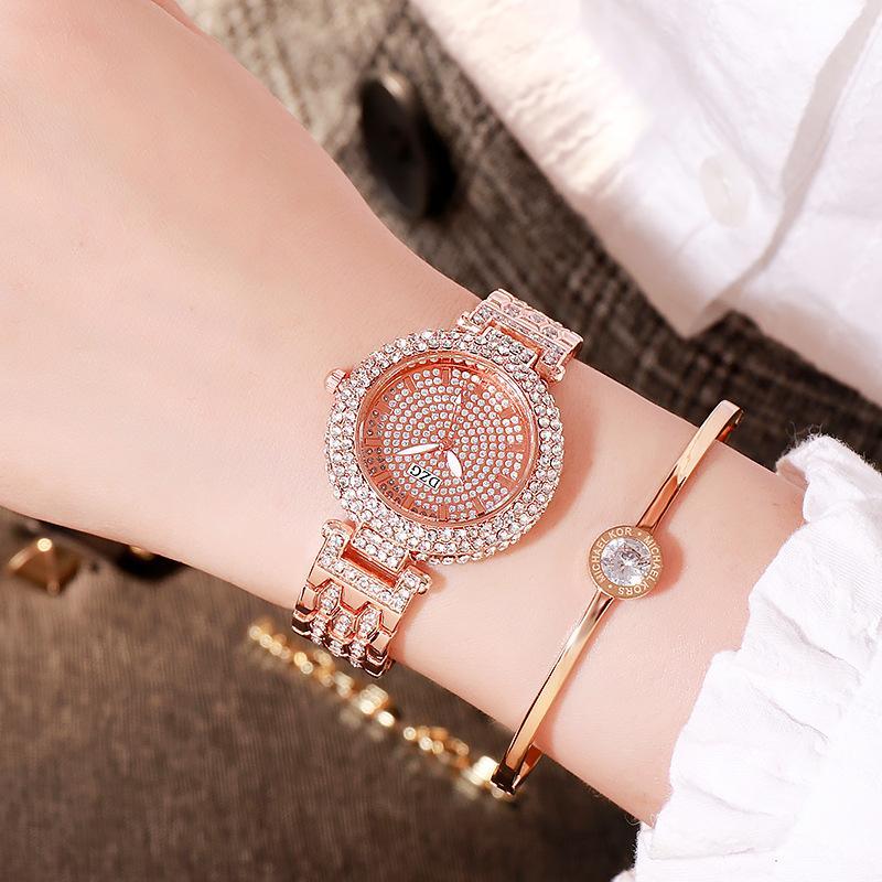 Women Watch Woman 2020 Luxury Brand Gold Clock Lady Wrist Watches Crystal Female Ladies Quartz Watch Fashion Women's Wristwatch enlarge