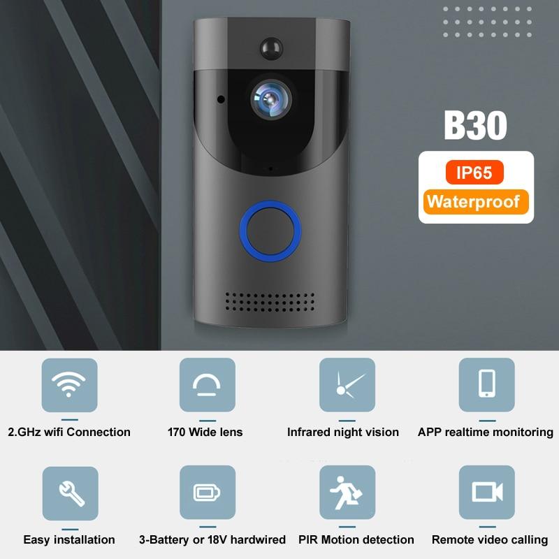 Anytek B30 WIFI Doorbell IP65 Waterproof Smart Video Door chime 720P wireless intercom FIR Alarm IR night vision IP camera enlarge