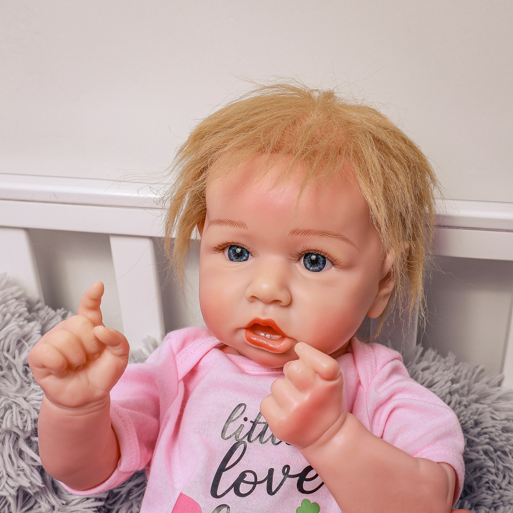 Reborn Baby Doll With Gold hair 20