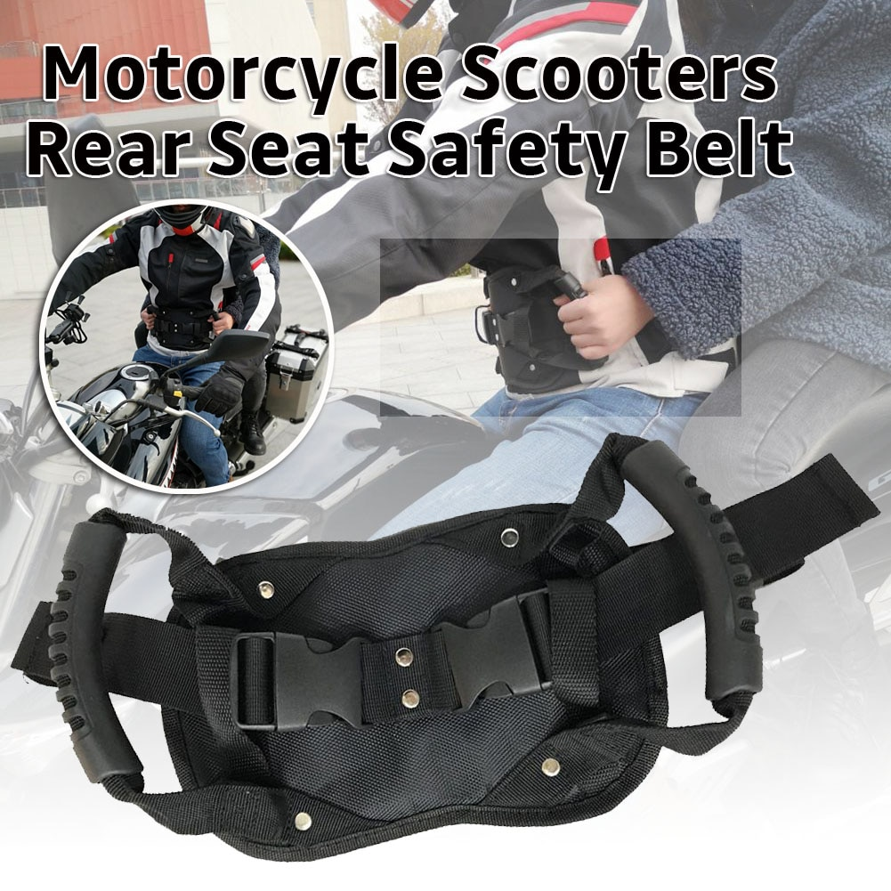 Universal Motorcycle Scooters Safety Belt Rear Seat Passenger Grip Grab Handle Non-slip Strap Motorcycle Seat Strap for Children enlarge