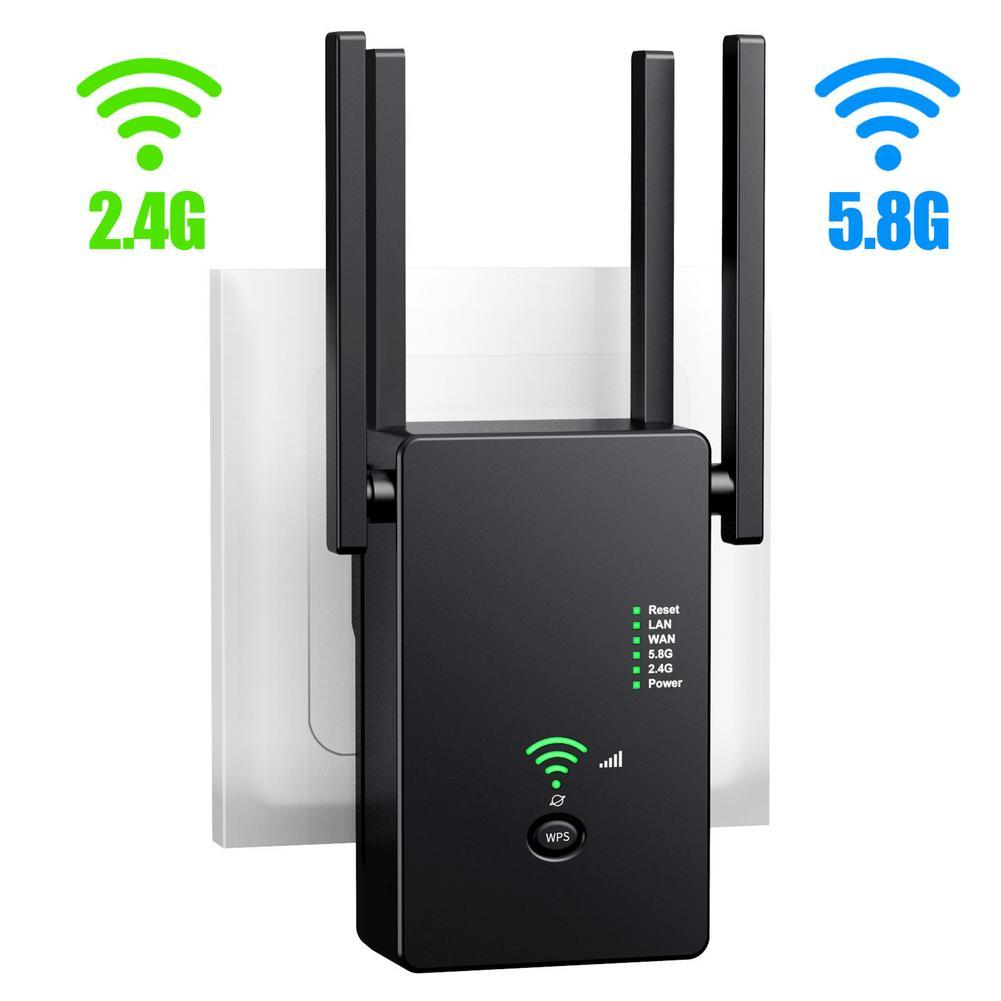AC1200M 2.4G/5.8G واي فاي مكرر إشارة طويلة المدى الداعم الإنترنت مكبر للصوت شبكة لاسلكية موسع واي فاي مكبر للصوت 802.11N