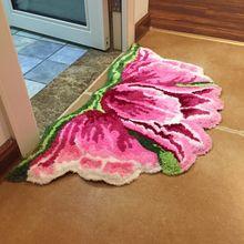 Nieuwe Aankomst Heldere Kleur Art Tapijt Voor Deur Mat Voor Deur Tapijt Deur Tulpen 80*60Cm