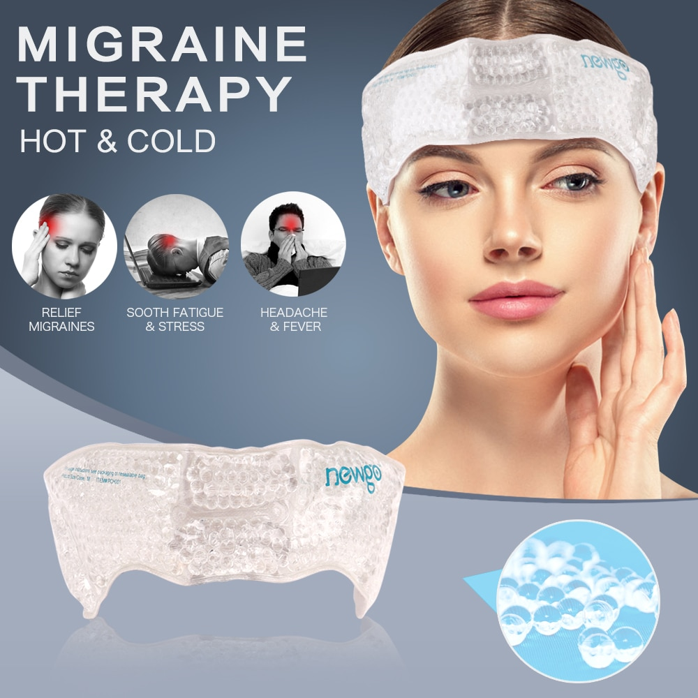 aliexpress.com - Migraine Ice Pack Head Wrap Adjustable Headache Cold Pack with Gel Bead for Pain Relief Toothaches Cold Hot Therapy for Head