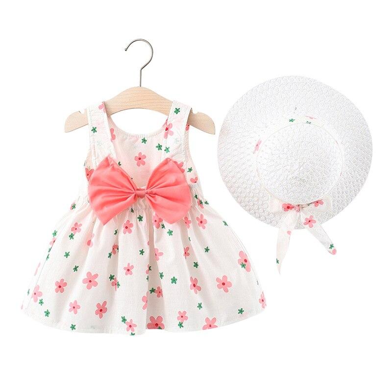 Комплекты летней одежды из 2 предметов платье Панама, комплект с галстуком-бабочкой, в клетку, для детей ясельного возраста; Одежда для девоч...