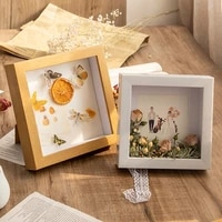 diy photo frame depth 3cm for displaying three dimensional works nordic artificial wood picture frame photo decor