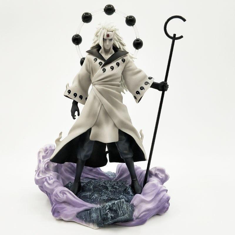 Figura de acción Uchiha Madara con 3 cabezas de Anime Naruto, figuras Rikudo Sennin, modelo de PVC, estatua de juguete, regalo de cumpleaños y Navidad