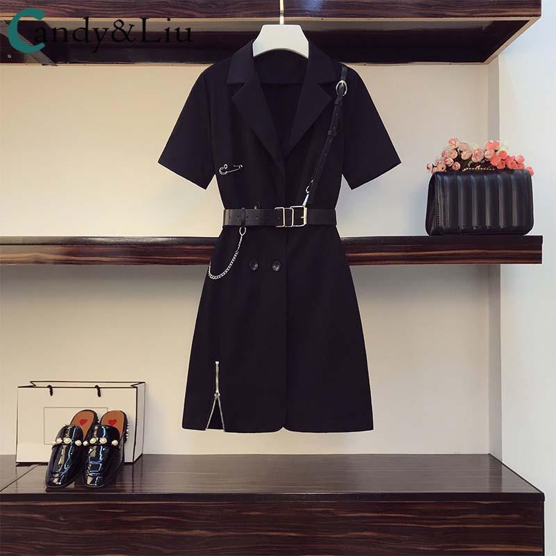 Meninas mais novas legal vestido preto lolita sexy shorts de couro cinta da cintura retro metal corrente botão zíper camisas femininas macacão