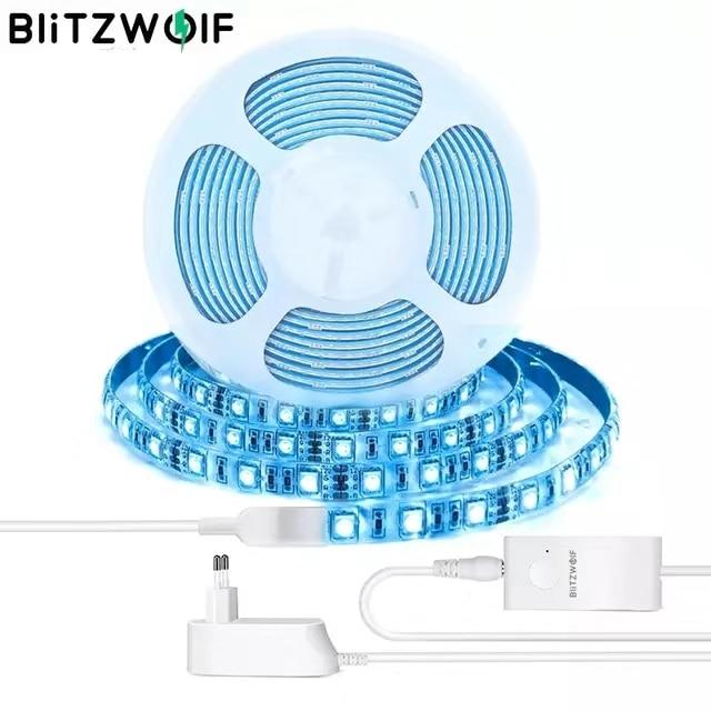 Blitzwolf BW-LT11 2 m/5 m inteligente app controle rgbw led kit tira de luz ou 1 m tira luz extensão mais ue eua plug led strip luz