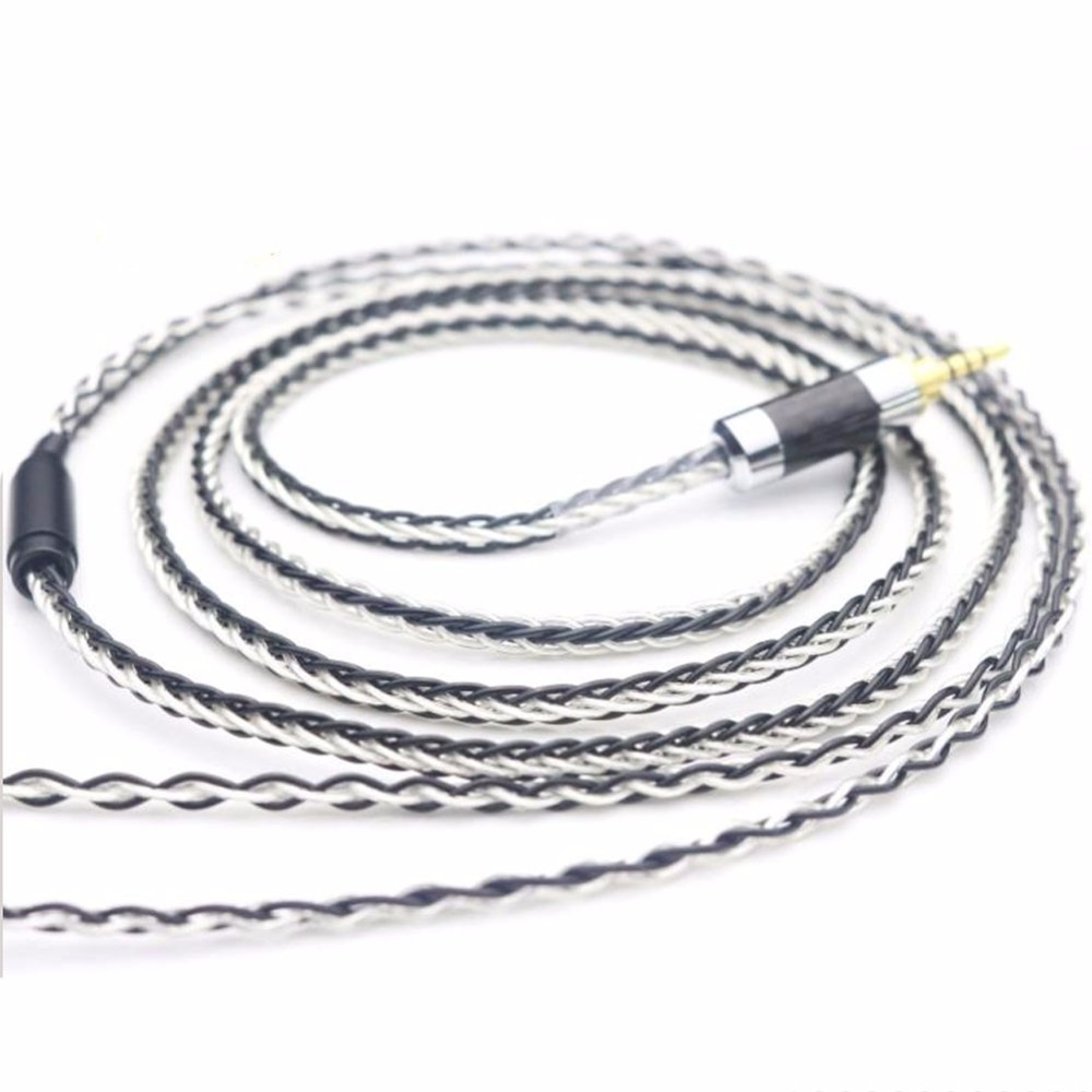 TOP-HiFi Free Shipping 3.5/2.5/4.4mm Balanced Silver Plated Upgrade Cable for HE400i HE1000 HE6 HE500 he560 EDX V2 Headphones enlarge