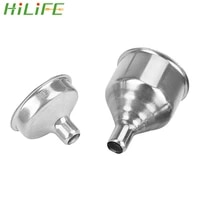 hilife small mouth funnels bar wine flask funnel mini stainless steel for filling hip flask narrow mouth bottles