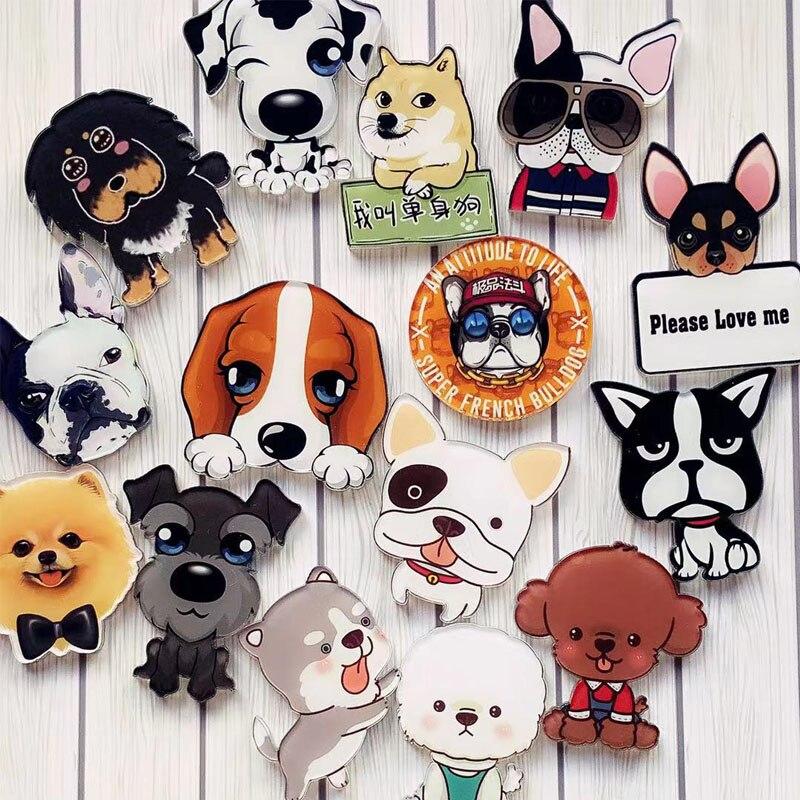Ropa de bricolaje favorita de los estudiantes, zapatos, sombreros, bolsos y accesorios placa collar de perro Acrílico
