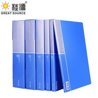 A4 PP Display Book Presentation Book Project Folder 10 Transparent Pockets Fancy Candy Color(2PCS)