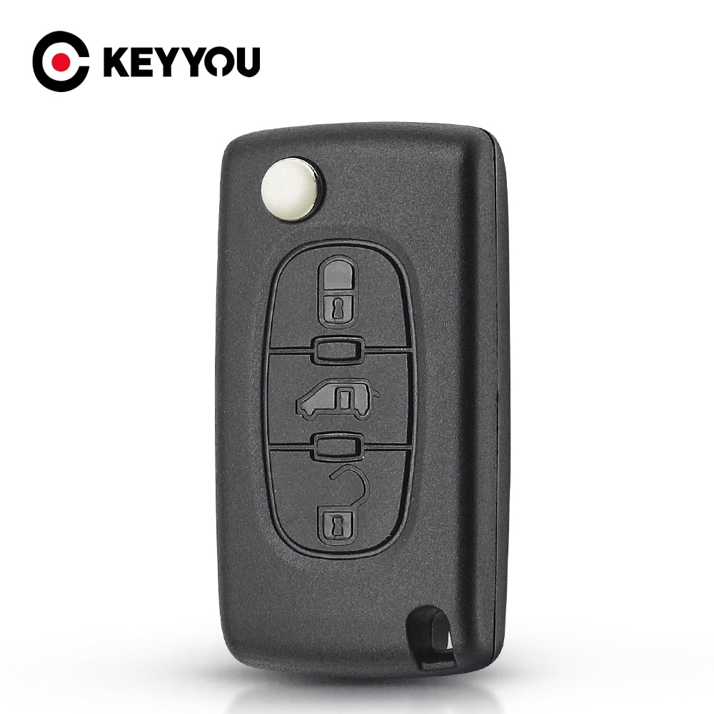 KEYYOU CE0523 CE0536 Replacement For Fiat Scudo HU83/VA2 Blade Flip Folding Remote Key Case Shell Fob 3 Buttons Car Styling