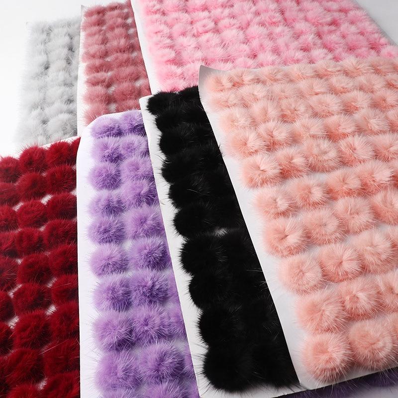 2.5Cm Color Fur Ball Bag Ornaments Real Plush Jewelry Fox Fur Ball Car Keychain Hairpin Diy Material