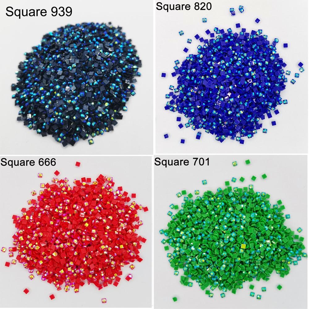 AB Stone Square Drill Diamond Painting Square AB Diamond Resin Electroplating Mosaic Gift Making Diamond Painting-Square Diamond